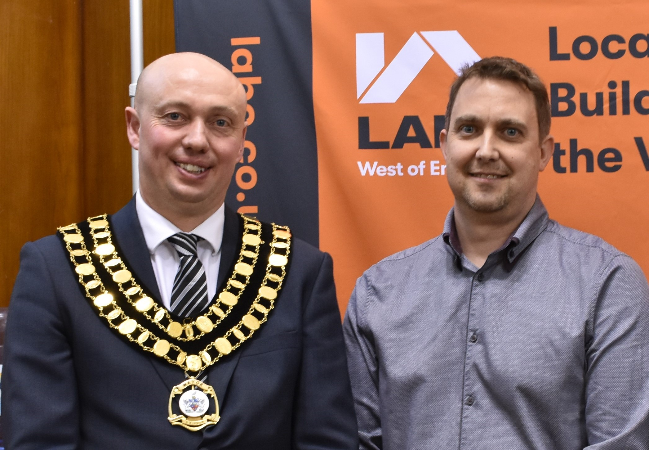 Mike with Mayor of Swindon