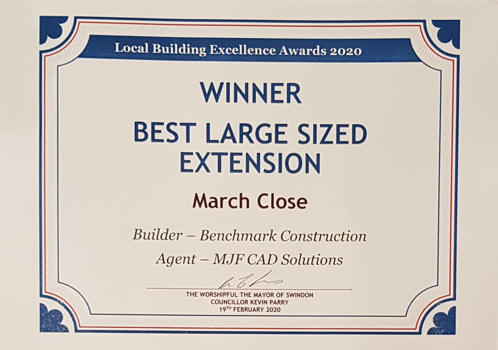 Winner of best large sized extension 2020